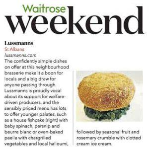 Waitrose Weekend features Lussmanns