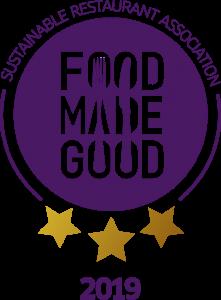 Sustainable Restaurant Association Food made Good Award Winner 2019